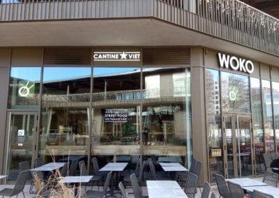 Enseignes Woko Cantine Viet Bordeaux Lac -SES Enseigniste Grigny Lyon