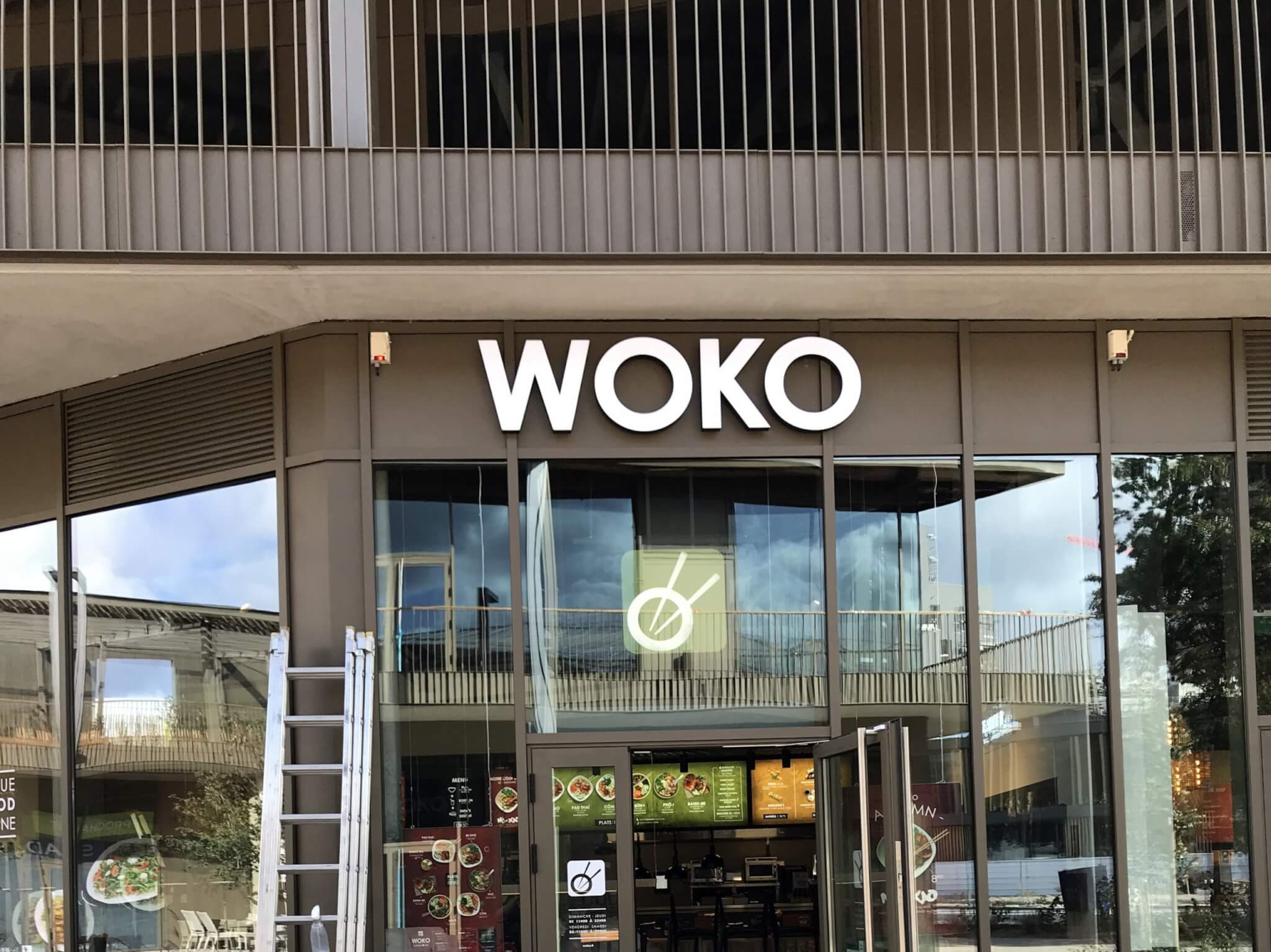 Installation Enseignes Woko Bordeaux SES Grigny- Lyon